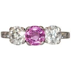 1.00 Carat Sapphire Platinum Engagement Ring