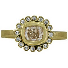 1.00 Carat Solitaire Oval Diamond Yellow Gold Bridal Flare Ring
