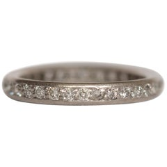 1.00 Carat Total Weight Diamond Platinum Wedding Band
