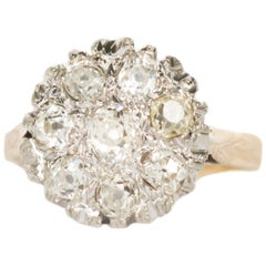 1.00 Carat Total Weight Diamonds Yellow Gold Engagement Ring