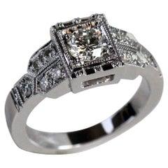 1.00 Carat TW Approximate Round Diamond Vintage Look Ring- Ben Dannie