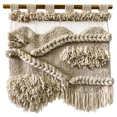100% Natural Handwoven Wool Tapestry, Waves