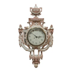 100% Original Finish Swedish Gustavian Wall Clock