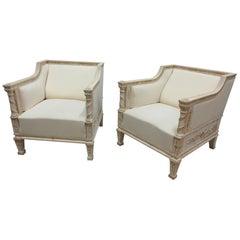 100% Original Painted Gustavian Berger Chairs