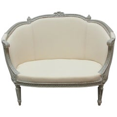 100% Original Painted Swedish Gustavian Settee