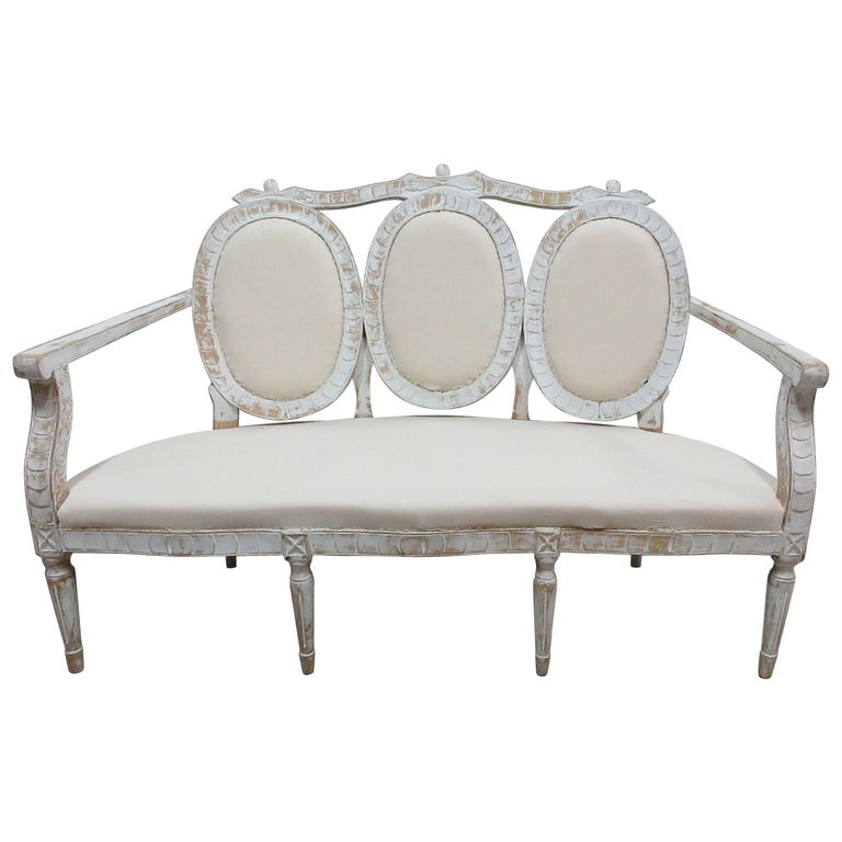 Awesome 100 Original Painted Swedish Gustavian Sofa Squirreltailoven Fun Painted Chair Ideas Images Squirreltailovenorg