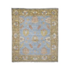 100 Percent Wool Oushak Hand Knotted Oriental Rug