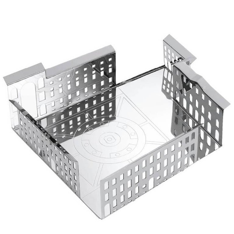 100 Piazze Milano Piazza Scala Silver Plated Tray by Fabio Novembre for Driade For Sale