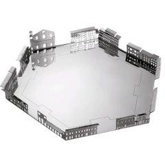 100 Piazze Palmanova Piazza Grande Silver Plated Tray by Fabio Novembre