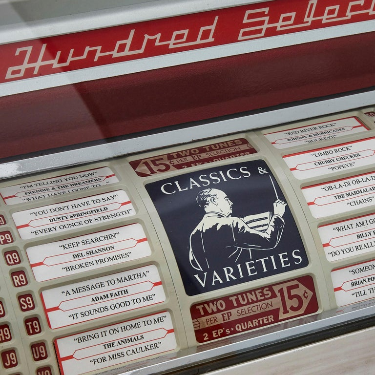 20th Century 100-Record Retro American Seeburg Select-O-Matic V-200 Jukebox For Sale