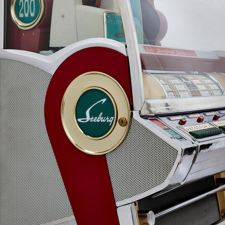 100-Record Retro American Seeburg Select-O-Matic V-200 Jukebox For Sale 1