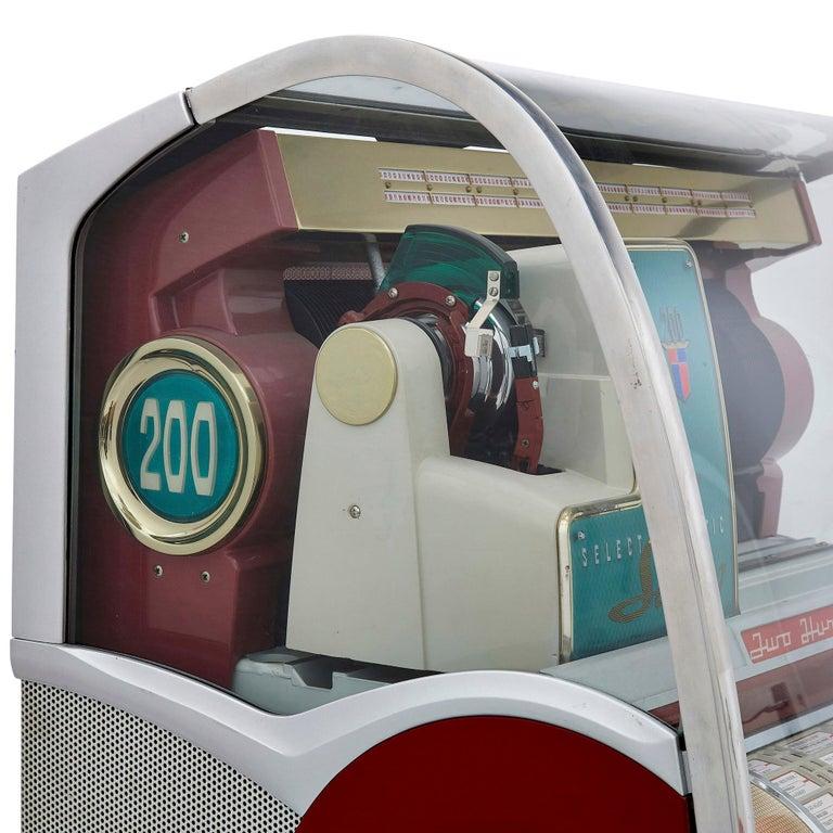 100-Record Retro American Seeburg Select-O-Matic V-200 Jukebox For Sale 2