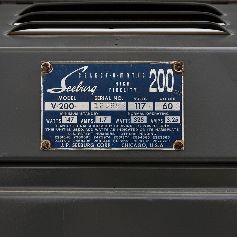 100-Record Retro American Seeburg Select-O-Matic V-200 Jukebox For Sale 3
