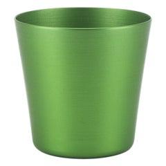 100% Recycled Anodized Aluminum Tumbler in Green, Medium