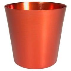 100% Recycled Anodized Orange Aluminum Tumbler Medium