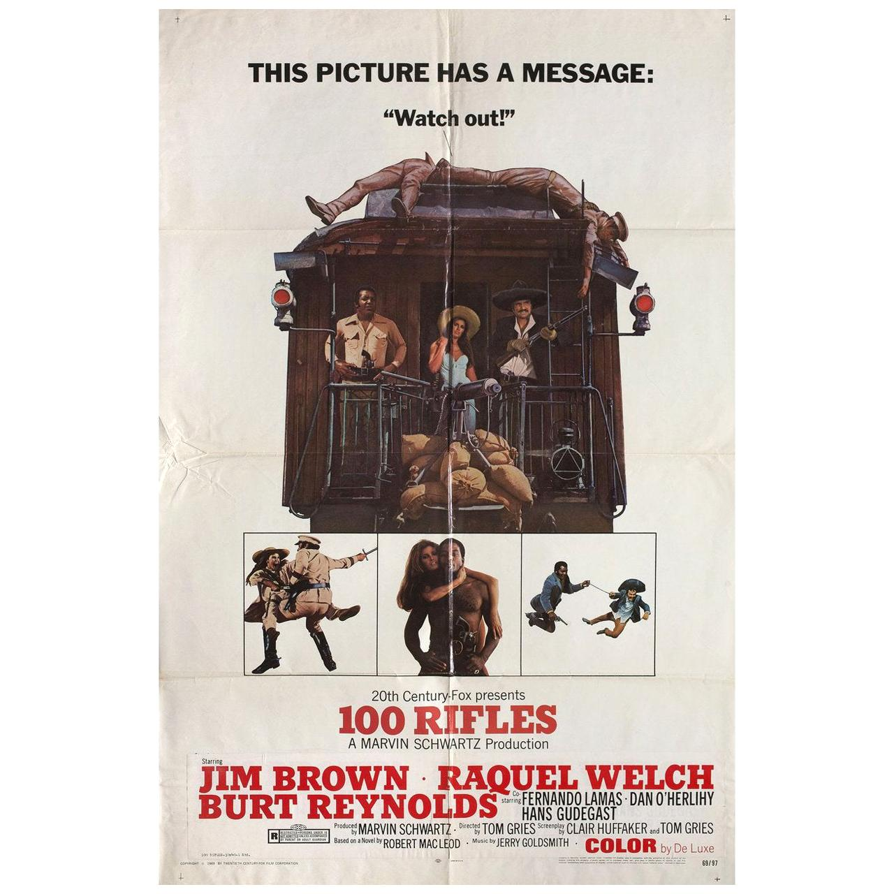 100 Rifles 1969 U.S. One Sheet Film Poster