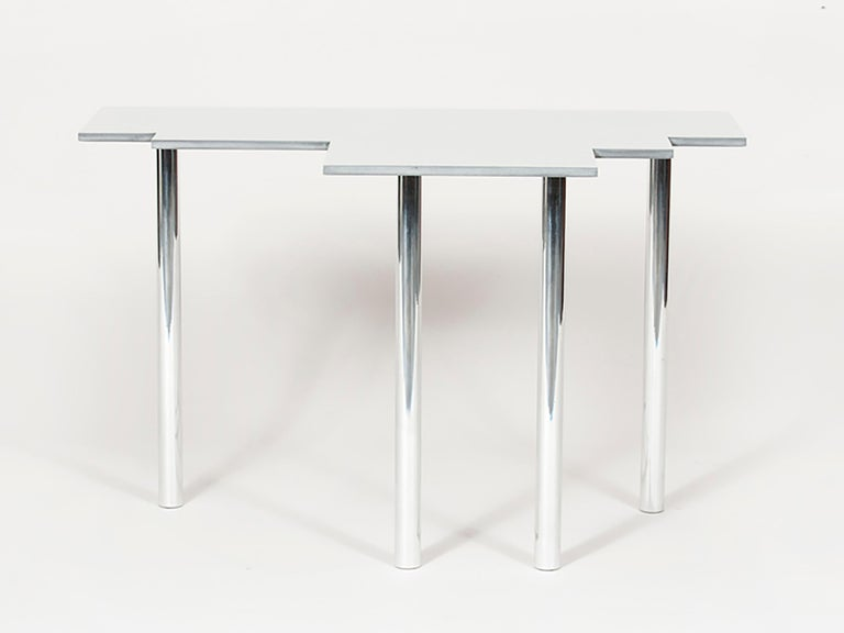 Minimalist 100 Variation Occasional Table in Mirror Polished Aluminum by Jonathan Nesci For Sale