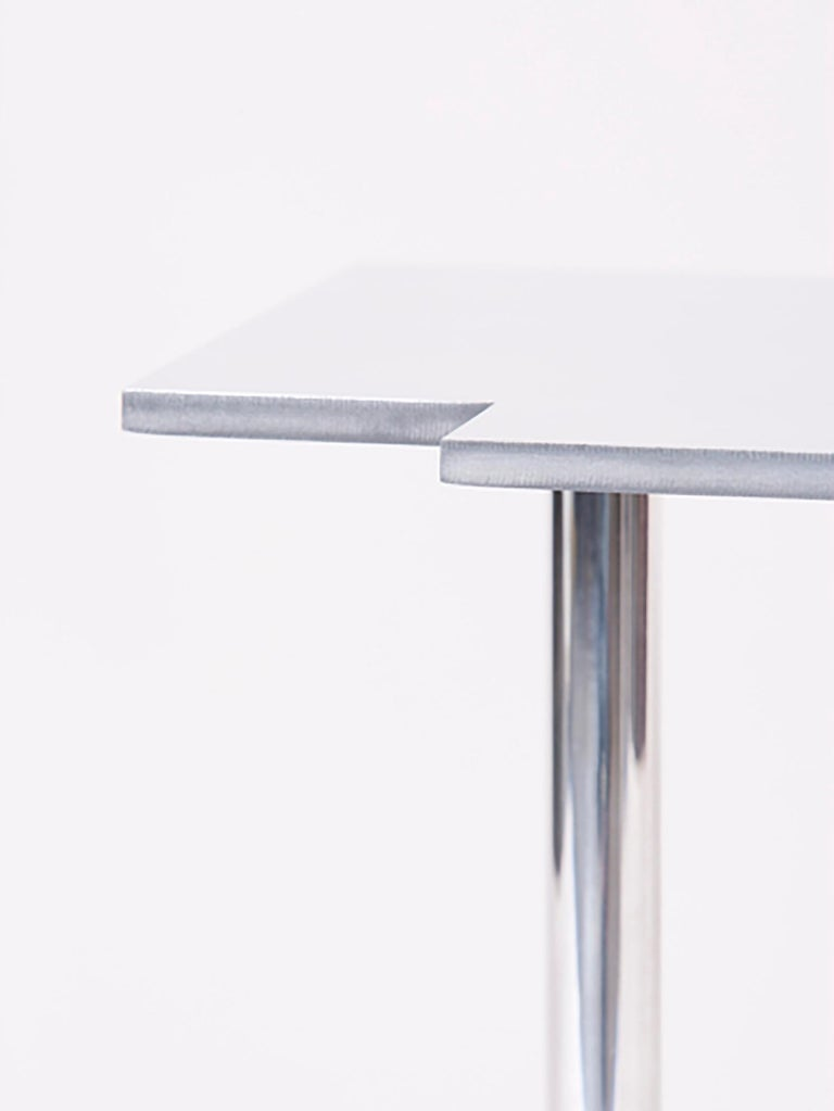 100 Variation Occasional Table in Mirror Polished Aluminum by Jonathan Nesci For Sale 1