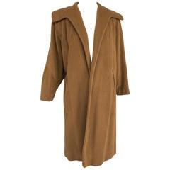 100% Vicuna 1950s Women's Coat in Tobacco Brown, Vintage