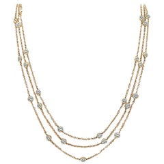 10.00 Carat Diamond by the Yard Necklace