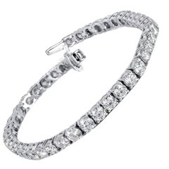 10.00 Carat Diamond Gold Tennis Bracelet