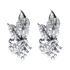 10.00 Carat Natural Diamond Stud Earrings set in 18Kt White Gold