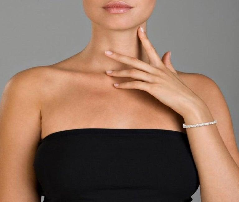 10.00 Carat Diamond Tennis Bracelet, Each Stone 0.25 Carat In New Condition In New York, NY