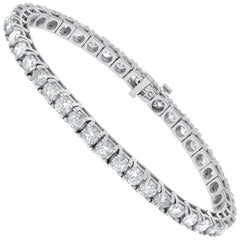 6.00 Carat Diamond Tennis Bracelet in White gold