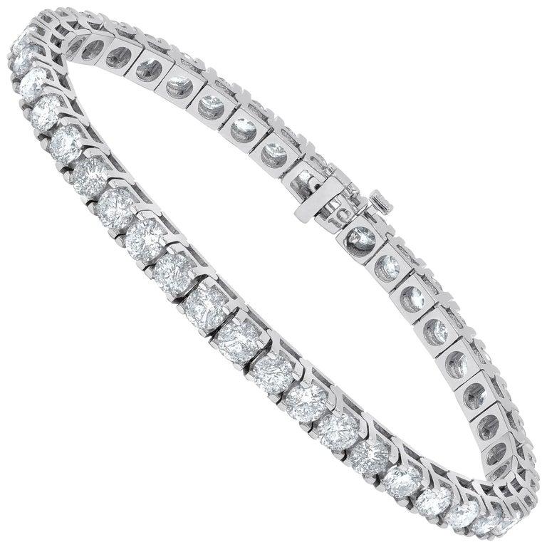 6.00 Carat Diamond Tennis Bracelet in White gold For Sale