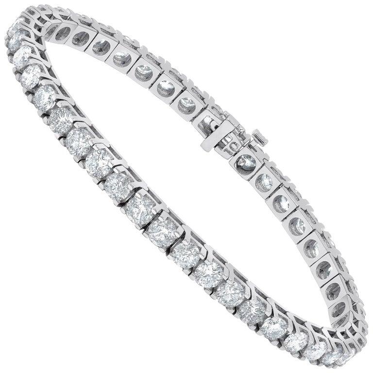 10.00 Carat Diamond Tennis Bracelet, Each Stone 0.25 Carat For Sale