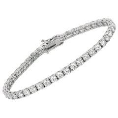 10.00 Carat Diamond Tennis Bracelet G SI 43 Stones 14 Karat White Gold