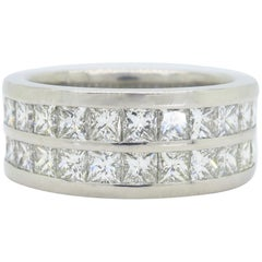 10.00 Carat Men's Diamond Eternity Band Ring in Platinum
