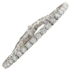 10.00 Carat Diamond 18 Karat White Gold Bracelet