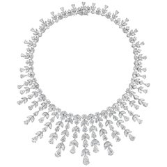 100.19 Carat Graduating Diamond Fringe Necklace