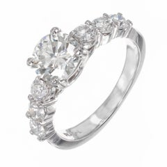 1.01 Carat Brilliant Cut Diamond Platinum Engagement Ring