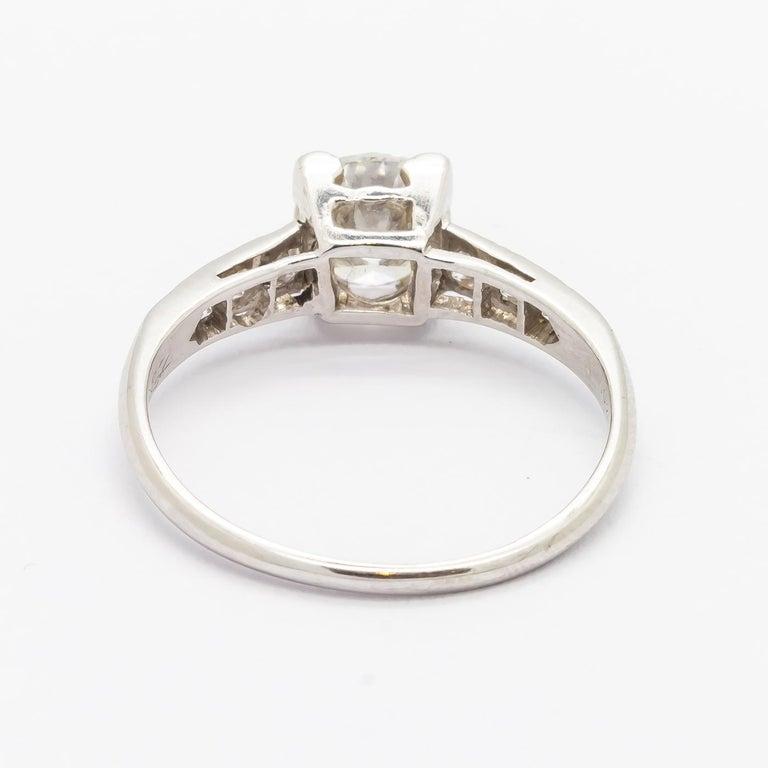 1.01 Carat Brilliant Cut Diamond Platinum Ring For Sale 1