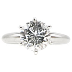 1.01 Carat D Flawless Round Brilliant Cut Diamond Engagement Ring