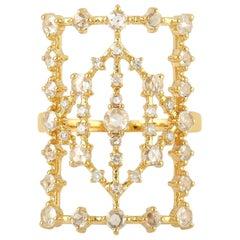 Rosecut Diamond 18 Karat Gold Laura Ring