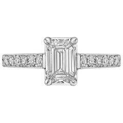 1.01 Carat Emerald-Cut Diamond Ring 'E/VS1'