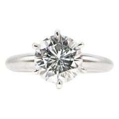 1.01 Carat GIA Certified D Flawless Round Brilliant Cut Diamond Engagement Ring