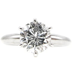 1.01 Carat GIA Certified D Internally Flawless Diamond Platinum Engagement Ring
