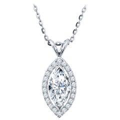 1.01 Carat Marquise Diamond Pendant