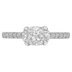 1.01 Carat Oval-Cut Diamond Ring 'E/SI2'