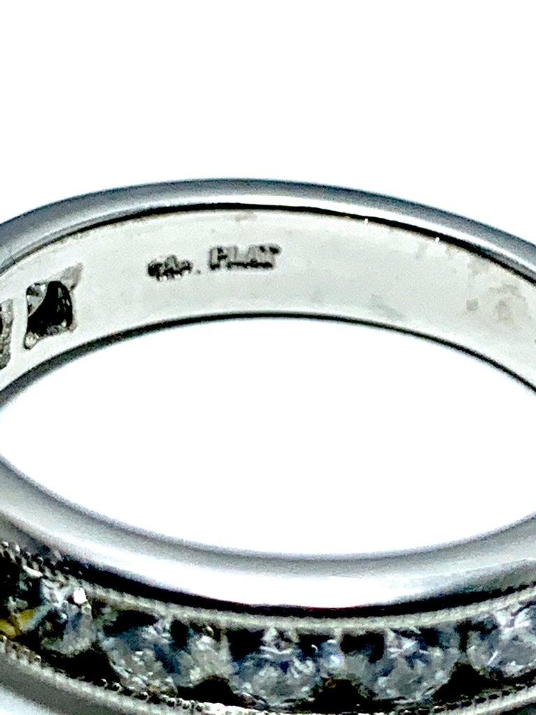 Round Cut 1.01 Carat Round Brilliant Cut Diamond and Platinum Engagement Ring For Sale