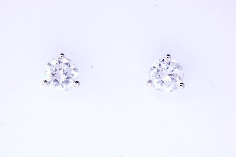The most classic of all, you will shine with these Brilliant Round cut Diamond Earrings. At 1.01 Carats, we knew it was a match made in heaven when we found these prestige quality diamonds, matching so perfectly in quality and size. A staple piece