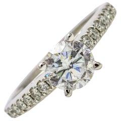 1.01 Carat Scott Kay 14 Karat White Gold Diamond Luminaire Engagement Ring
