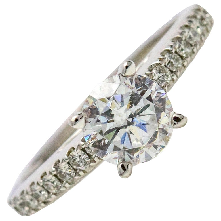 a18fbf006 1.01 Carat Scott Kay 14 Karat White Gold Diamond Luminaire Engagement Ring  For Sale