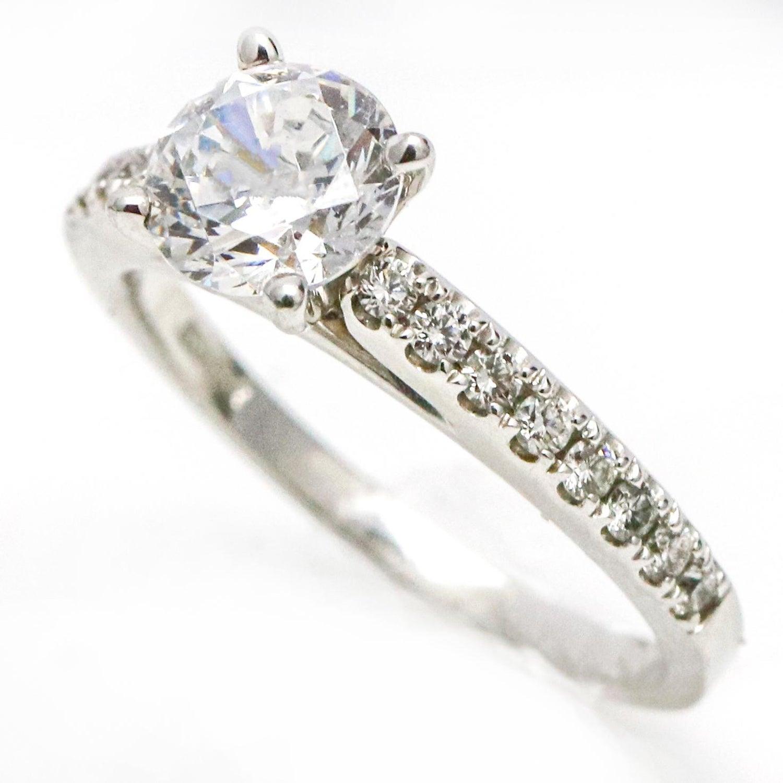 f6c35a389 1.01 Carat Scott Kay 14 Karat White Gold Diamond Luminaire Engagement Ring  For Sale at 1stdibs