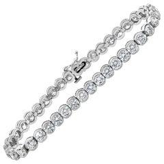 Roman Malakov 10.10 Carat Round Diamond Semi-Bezel Tennis Bracelet