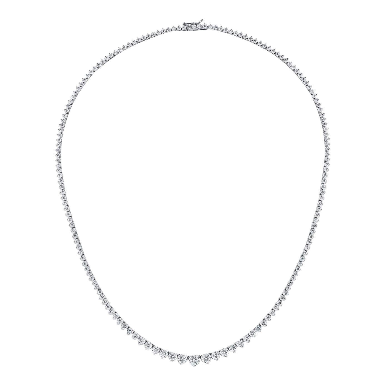 10.11 Carat Diamond Graduated Riviera Necklace